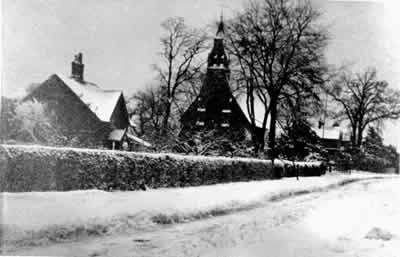 Rose Cottage and Laxton Church, Laxton, Yorkshire